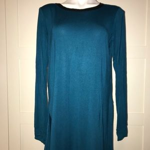 Loveappella Long Sleeve Teal Thumbhole Top